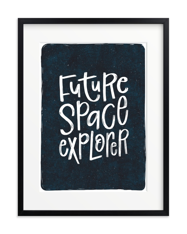 Future Space Explorer Children's Art Print