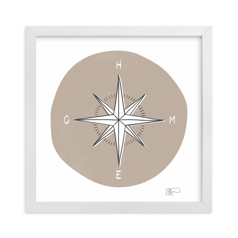"""""""Traveler's Compass"""" - Limited Edition Art Print by Letter19Design in beautiful frame options and a variety of sizes."""