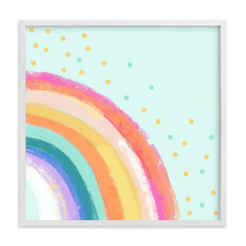 This is a colorful kids wall art by Alison Jerry Designs called Ventura Rainbow l.