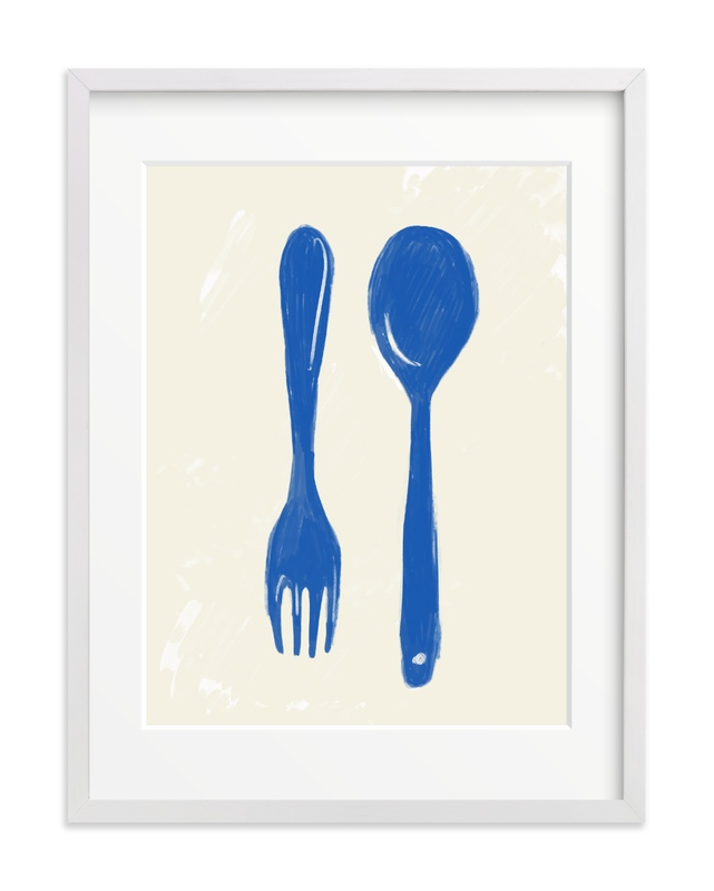 kitchen cutlery Children's Art Print