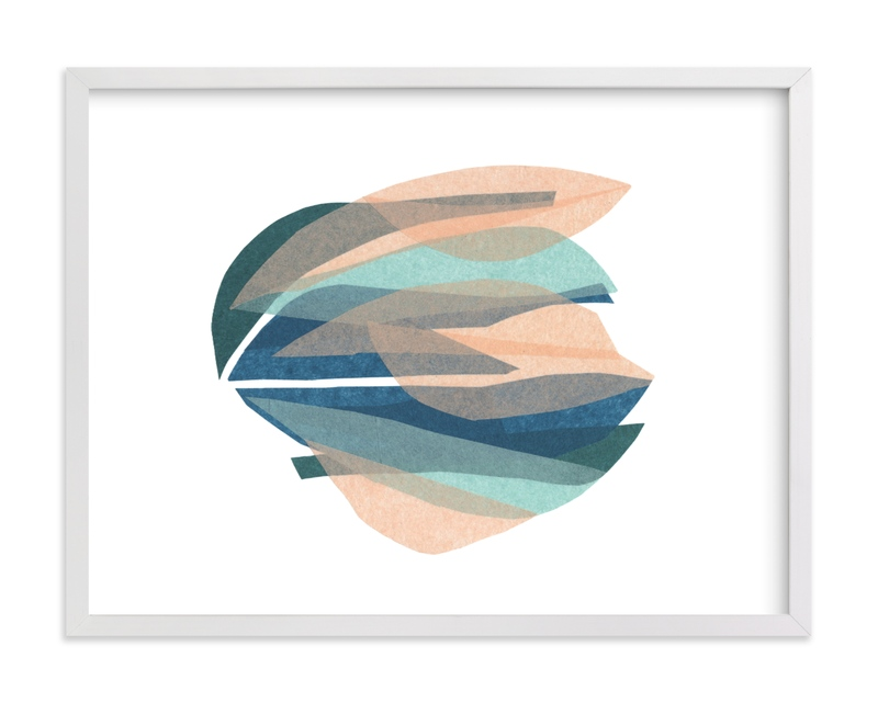 This is a colorful kids wall art by Carrie Moradi called tissue seagrass.