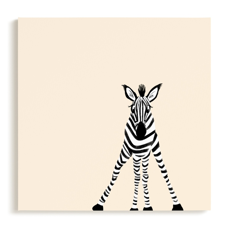 Little Baby Zebra Children's Art Print