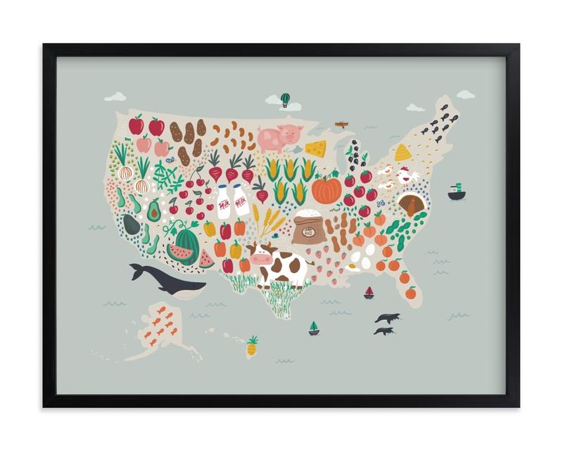 US Agriculture Children's Art Print