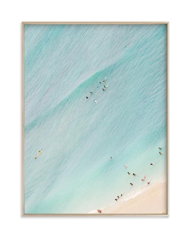 Tiny Swimmers Children's Art Print
