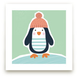 Little Penguin Print by Ekaterina Romanova