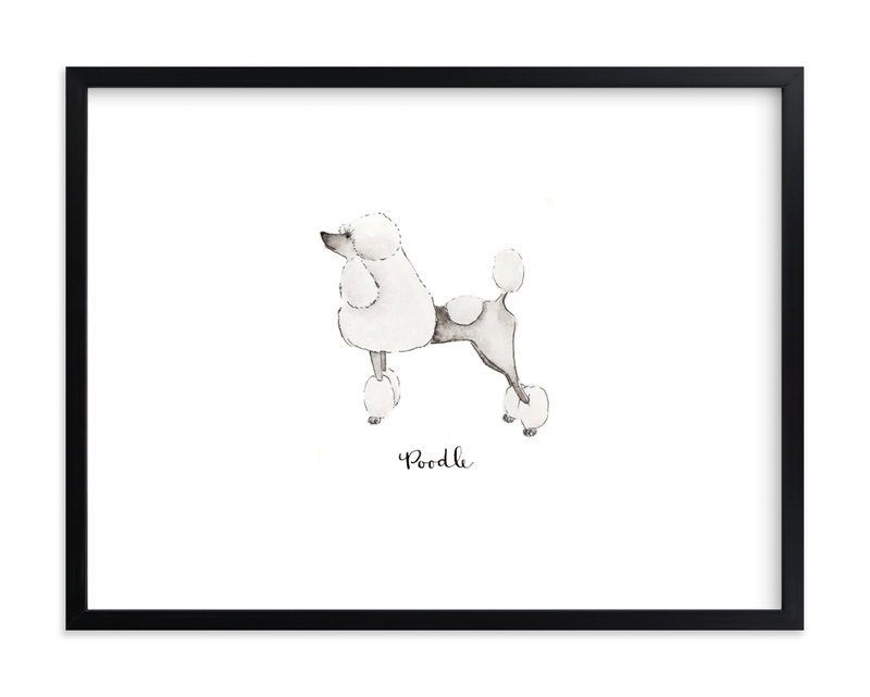 """Poodle"" - Limited Edition Art Print by Megan Kelso in beautiful frame options and a variety of sizes."