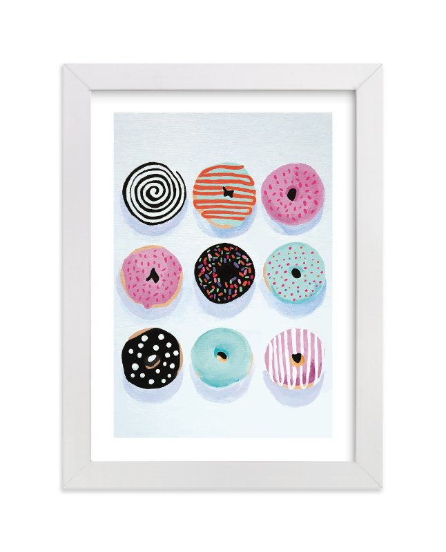 """Pop Donuts"" - Limited Edition Art Print by Julia Starr in beautiful frame options and a variety of sizes."