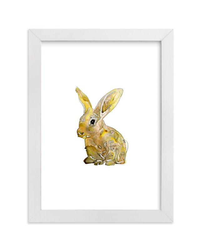 """The Country Bunny"" - Limited Edition Art Print by Michelle Waldie in beautiful frame options and a variety of sizes."