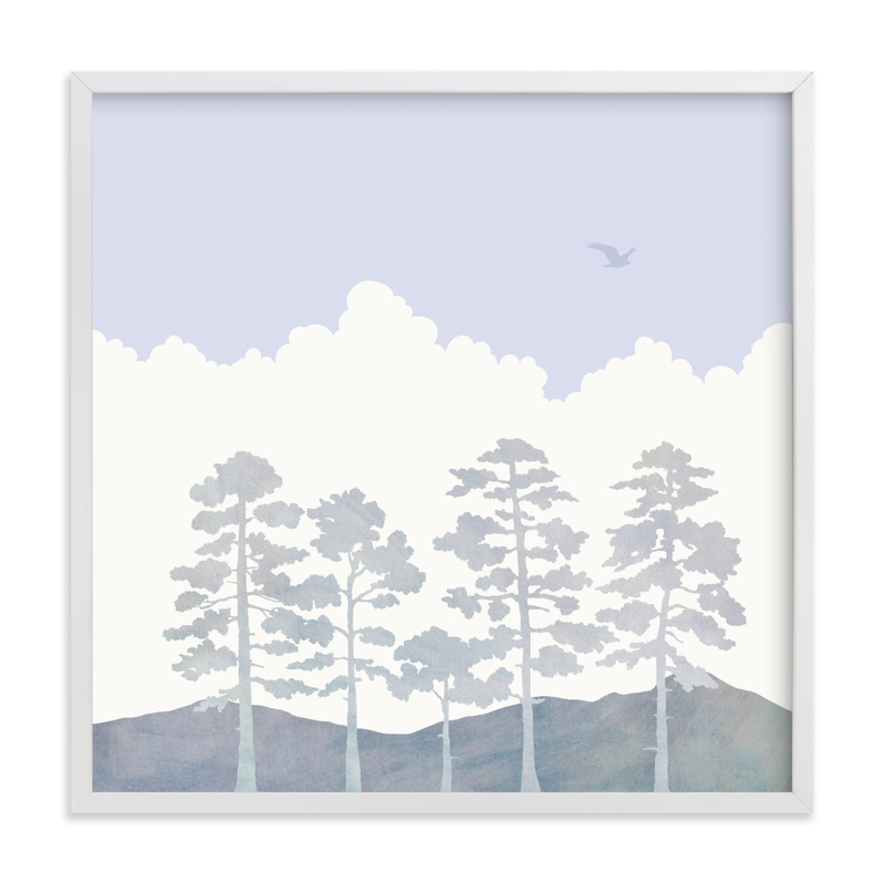 """Treetops"" - Limited Edition Art Print by Field and Sky in beautiful frame options and a variety of sizes."