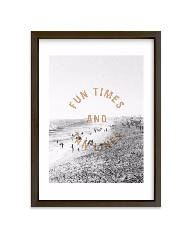"""tan lines"" - Limited Edition Art Print by Lindsay Stetson Thompson in beautiful frame options and a variety of sizes."