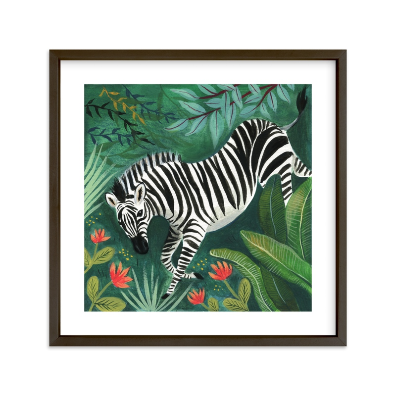 """Zebra"" - Limited Edition Art Print by Emilie Simpson in beautiful frame options and a variety of sizes."