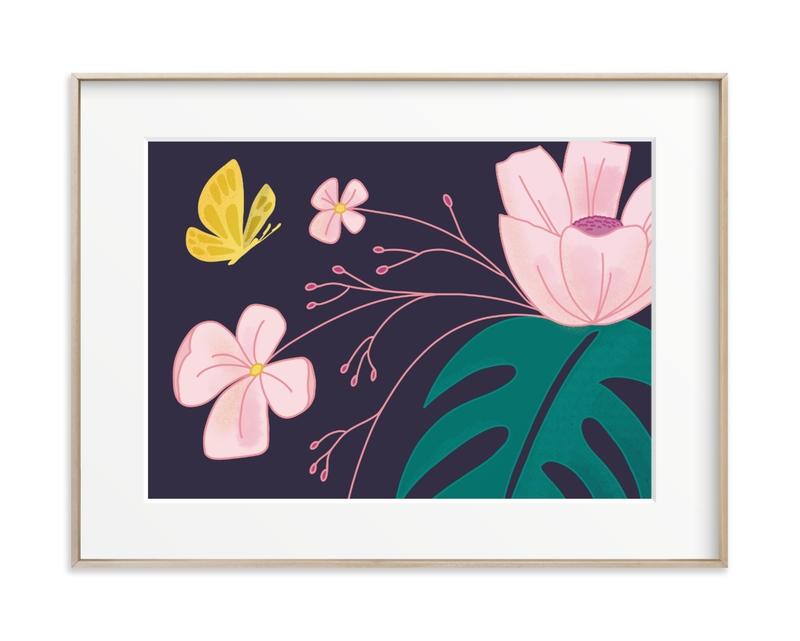 Evening Blooms 2 Children's Art Print