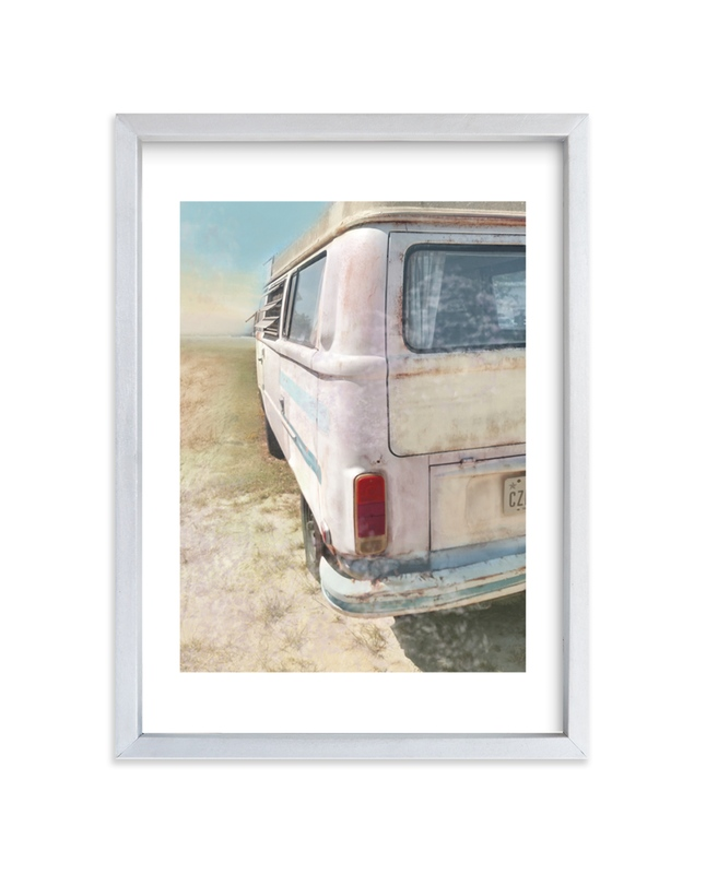 """""""Take Me to the Beach"""" - Limited Edition Art Print by Alison Jerry Designs in beautiful frame options and a variety of sizes."""