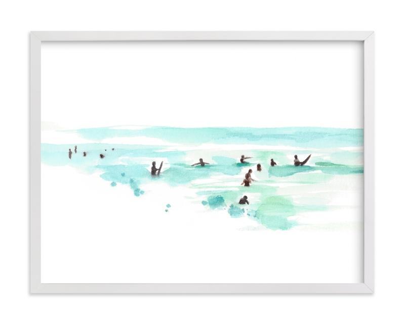 Surf City Children's Art Print