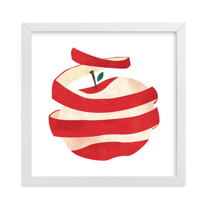 """""""Peeled Apple"""" - Limited Edition Art Print by Morgan Ramberg in beautiful frame options and a variety of sizes."""