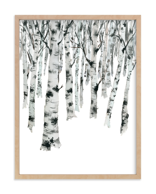 """""""Birch Forest"""" - Limited Edition Art Print by Jean Choe in beautiful frame options and a variety of sizes."""