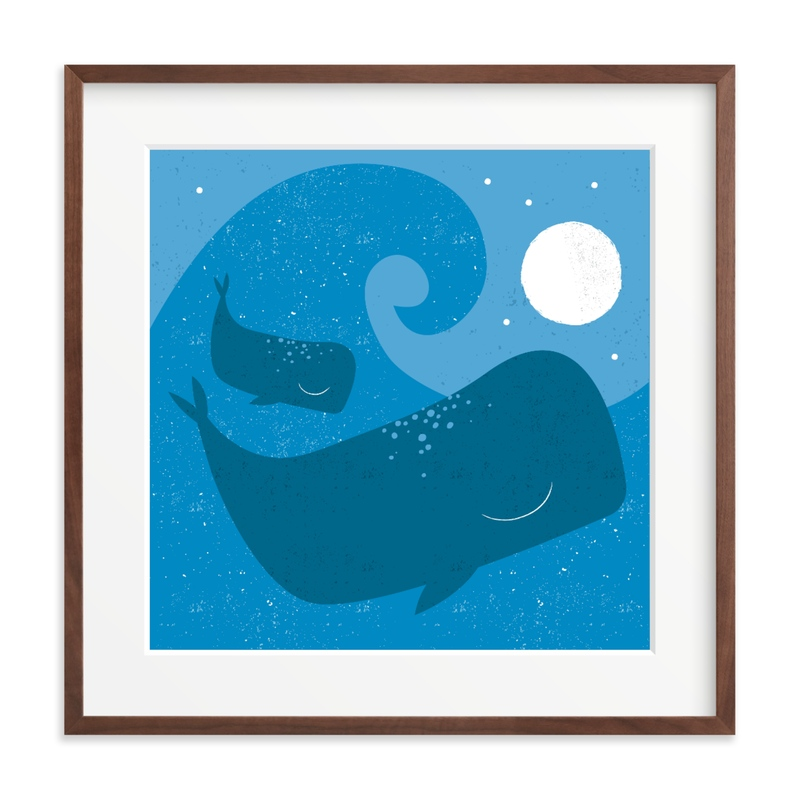 midnight splash Children's Art Print