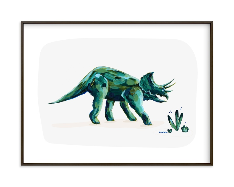 Triumphant Triceratops Children's Art Print