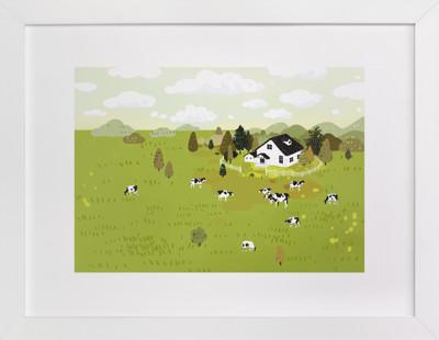 A breath of fresh air Children's Art Print