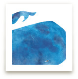 Big Blue Whale by Mia Posada