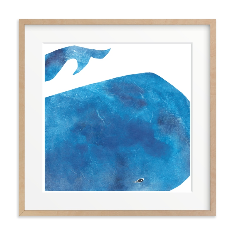 Big Blue Whale Children's Art Print