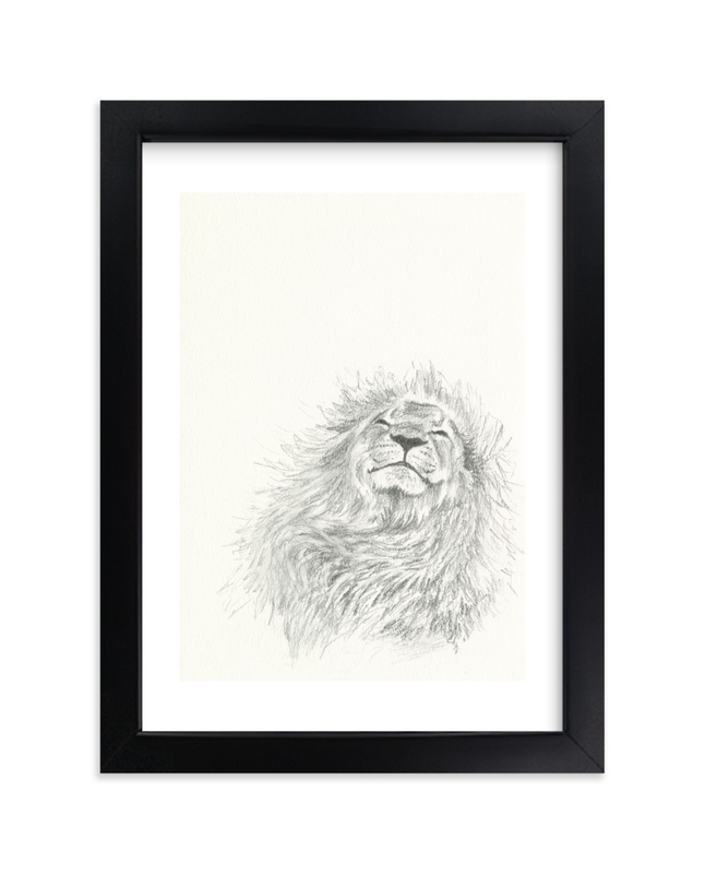 """Happy Lion"" - Limited Edition Art Print by Christy Sheehan in beautiful frame options and a variety of sizes."