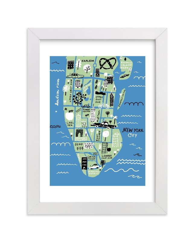 """I love New York"" - Limited Edition Art Print by Jordan Sondler in beautiful frame options and a variety of sizes."