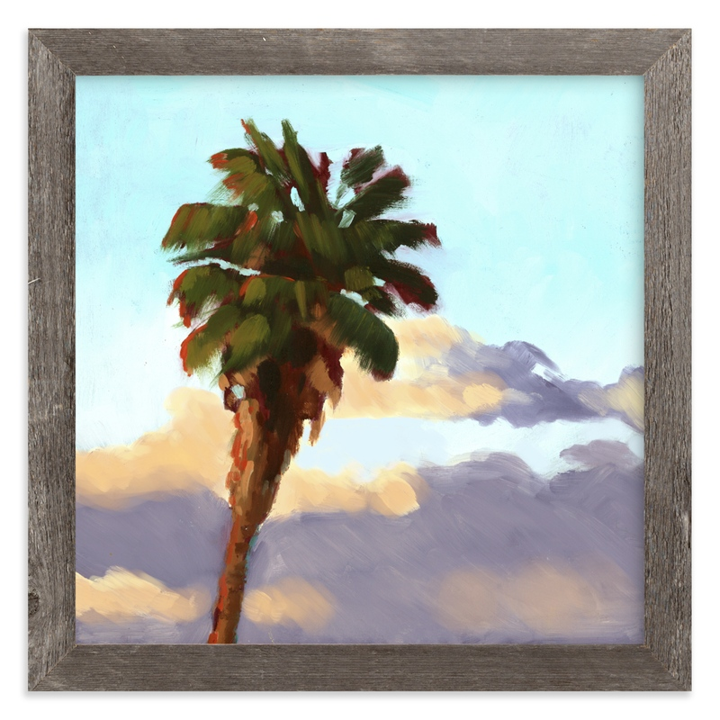 """Palm Palm Pom Pom"" - Limited Edition Art Print by Rachel Nelson in beautiful frame options and a variety of sizes."