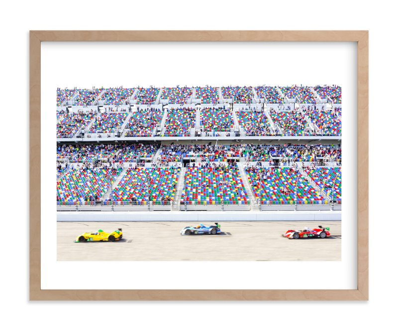 """""""Primary Colors Go Zoom Zoom!"""" - Limited Edition Art Print by Molly Goodman in beautiful frame options and a variety of sizes."""
