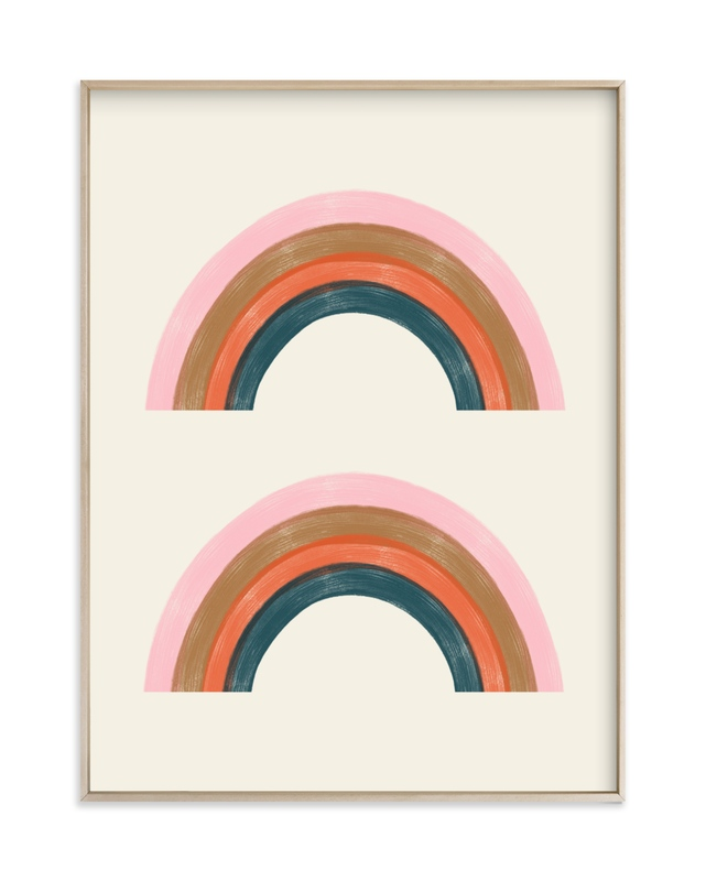 """Double Vintage Rainbow"" - Limited Edition Art Print by EMANUELA CARRATONI in beautiful frame options and a variety of sizes."