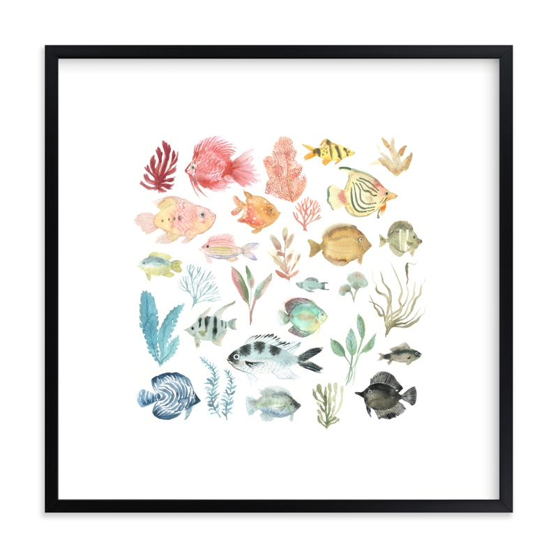 """""""Tropical Fish"""" - Limited Edition Art Print by Emilie Simpson in beautiful frame options and a variety of sizes."""