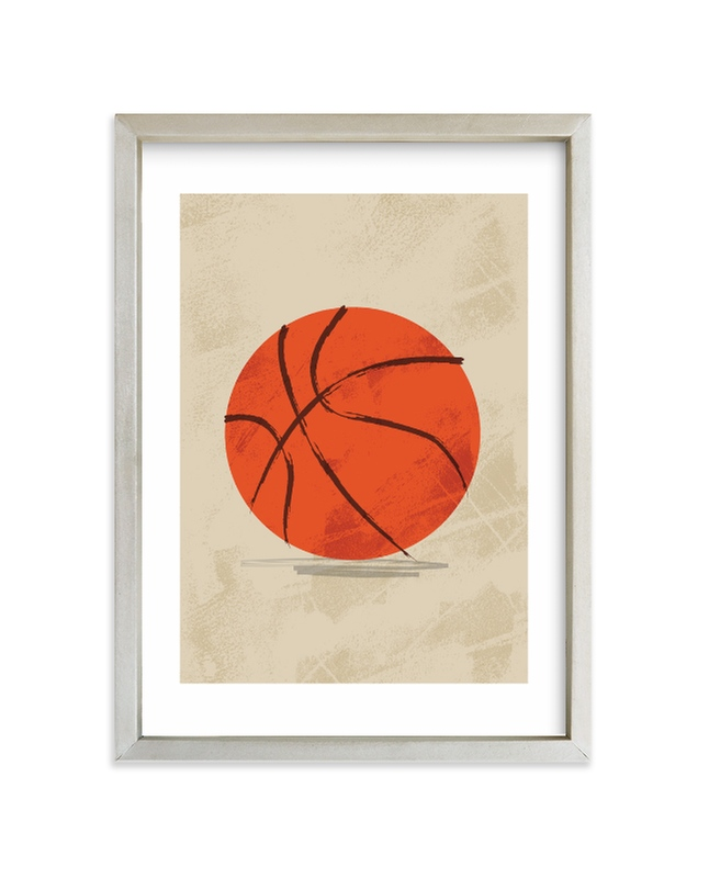 """""""Let us play basketball"""" - Limited Edition Art Print by Susanne Kasielke in beautiful frame options and a variety of sizes."""