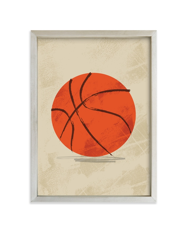 """Let us play basketball"" - Limited Edition Art Print by Susanne Kasielke in beautiful frame options and a variety of sizes."