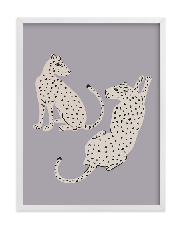This is a ivory kids wall art by Stellax Creative called Resting Cheetahs.