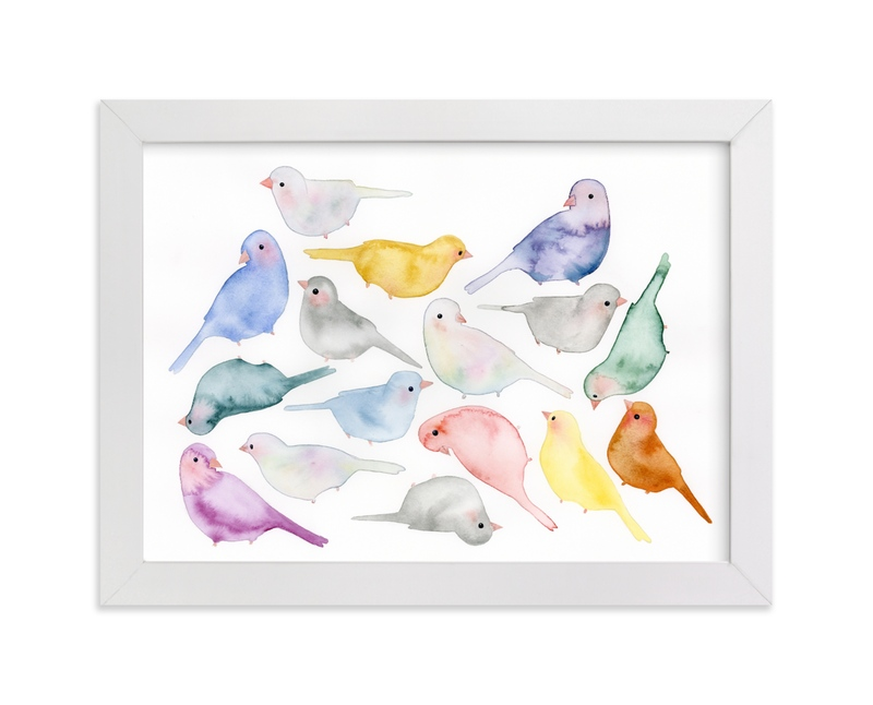 """Bird Crew"" - Limited Edition Art Print by Renee Anne in beautiful frame options and a variety of sizes."