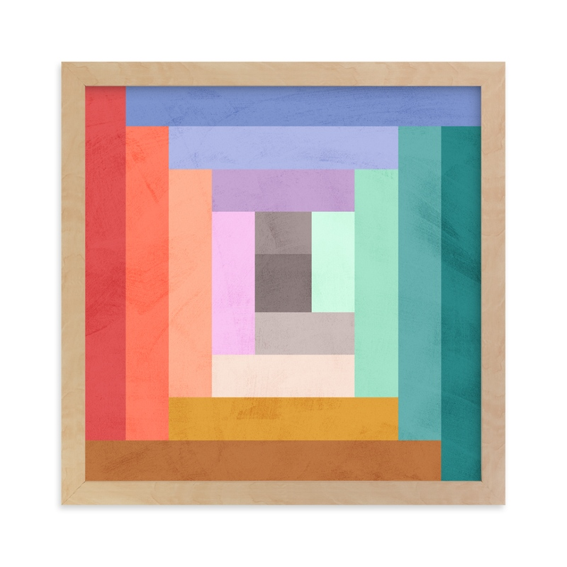 """Modern Quilt Geometric"" - Limited Edition Art Print by Field and Sky in beautiful frame options and a variety of sizes."