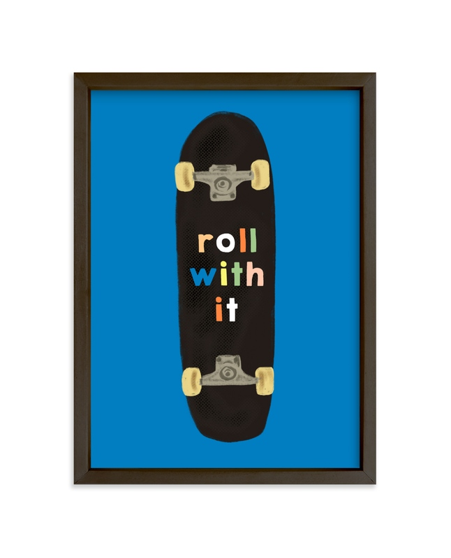 """roll with it"" - Limited Edition Art Print by Baumbirdy in beautiful frame options and a variety of sizes."