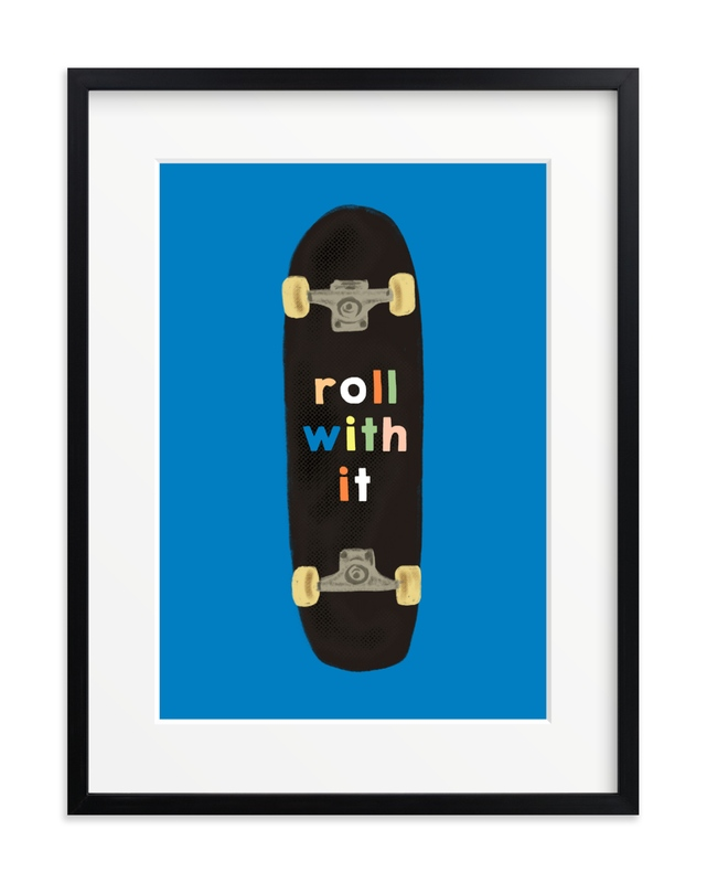 roll with it Children's Art Print