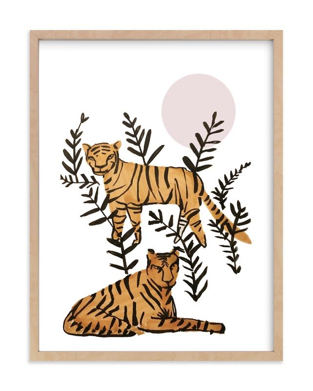 Tigers in Tulum Children's Art Print
