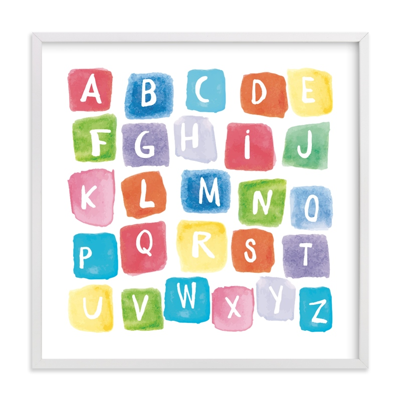 """""""ABC squares"""" - Limited Edition Art Print by Amy Hall in beautiful frame options and a variety of sizes."""