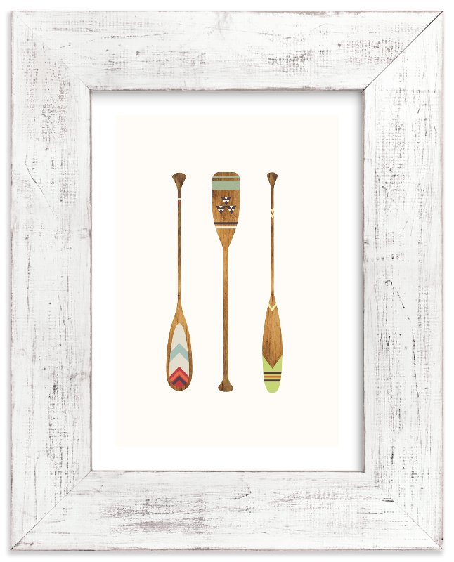 """""""Let's Get Paddles"""" - Limited Edition Art Print by SUWACHI in beautiful frame options and a variety of sizes."""