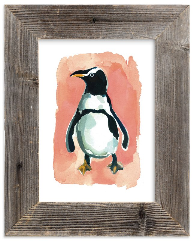 """Penguin"" - Limited Edition Art Print by Betty Hatchett in beautiful frame options and a variety of sizes."