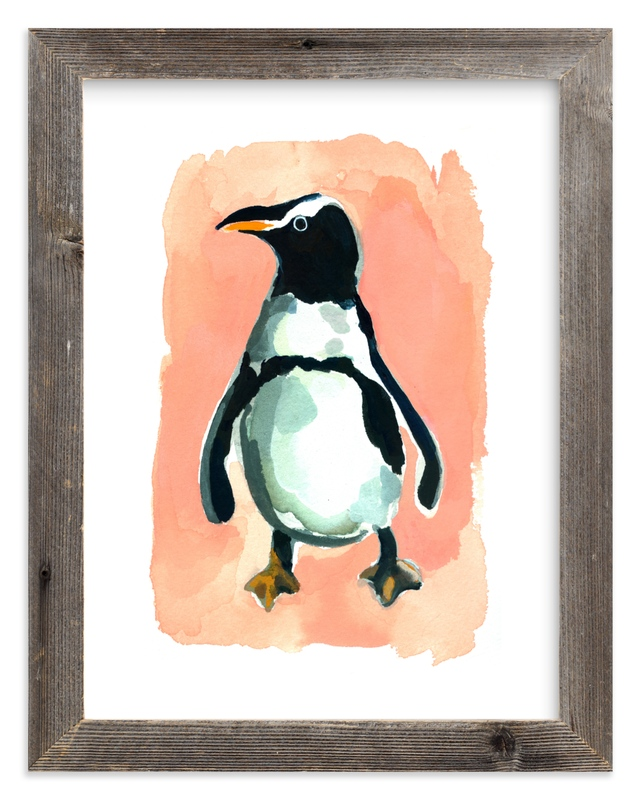 """""""Penguin"""" - Limited Edition Art Print by Betty Hatchett in beautiful frame options and a variety of sizes."""