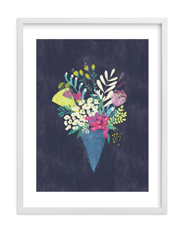 """""""Candy blossom"""" - Limited Edition Art Print by Lisa Glanz in beautiful frame options and a variety of sizes."""