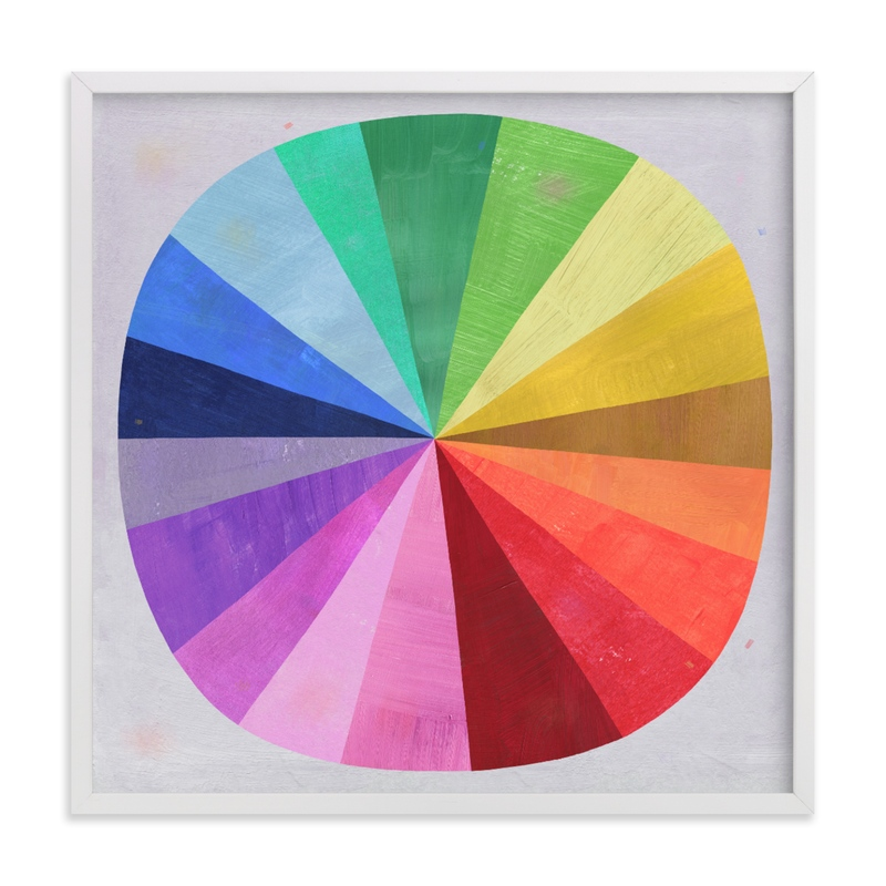 """""""Color Wheel"""" - Limited Edition Art Print by melanie mikecz in beautiful frame options and a variety of sizes."""