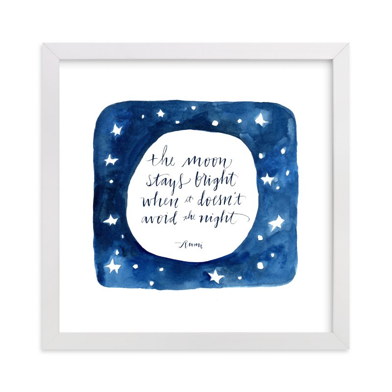 """""""Moon In The Night"""" - Limited Edition Art Print by Tennyson Tippy in beautiful frame options and a variety of sizes."""