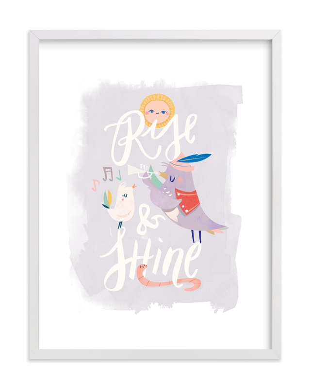 This is a colorful kids wall art by Lori Wemple called Rise and Shine.