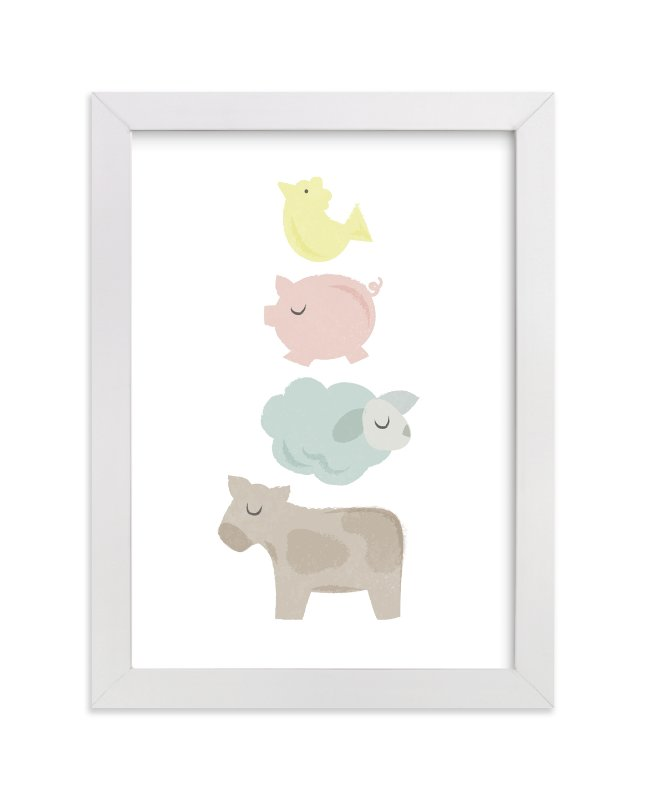 """Barnyard Bounce"" - Limited Edition Art Print by Jessie Steury in beautiful frame options and a variety of sizes."