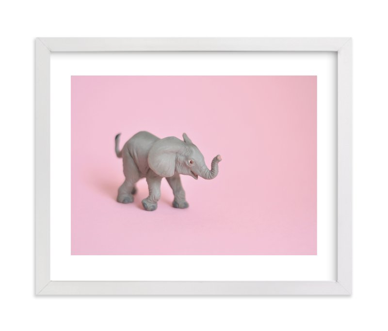 """""""Toy Elephant"""" - Limited Edition Art Print by Kinga Subject in beautiful frame options and a variety of sizes."""