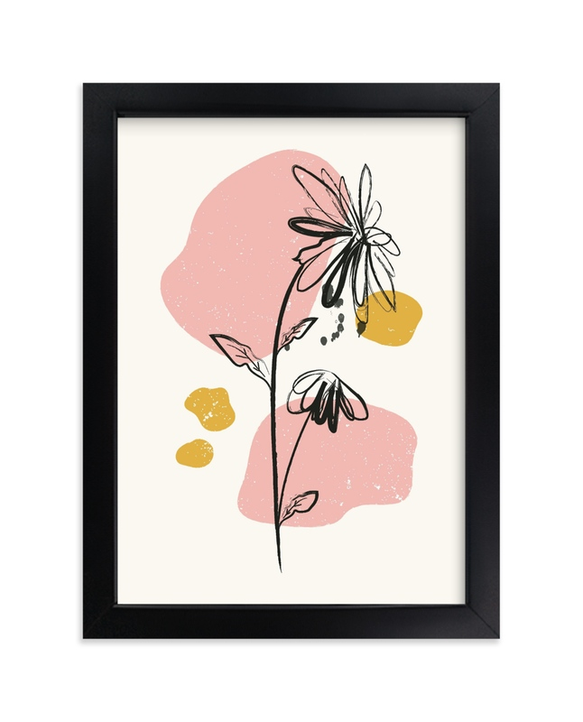 """""""Mod Floral 2"""" - Limited Edition Art Print by Kanika Mathur in beautiful frame options and a variety of sizes."""